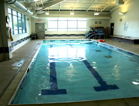 Aquatic therapy at The Wellness Center